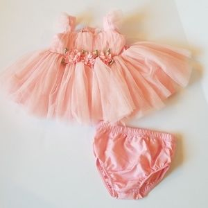 Baby Girl Pink Formal Dress 3-6M NWOT